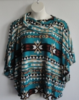 Image Emily Side Opening Sweater - Jade Aztec