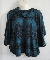 Image Emily Side Opening Sweater - Dark Teal Geometric