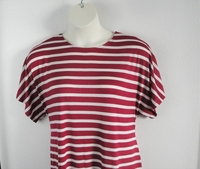 Tracie Shirt - Cranberry Stripe Rayon Knit