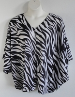 Image Kiley Side Opening Shirt - Black/White Zebra