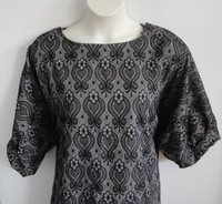 Image Libby Shirt - Black/Gray Lace Fleur Rayon/Spandex