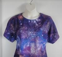 Image Tracie FLANNEL Shirt - Blue/Purple Galaxy
