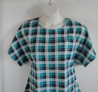 Image Tracie FLANNEL Shirt - Teal/Black Plaid