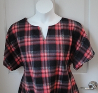 Image Cathy FLEECE Shirt - Red/Black Plaid