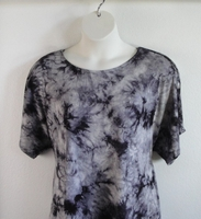 Image Tracie Shirt - Black/Gray Tie Dye Rayon Knit