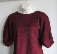 Image Jan Sweater - Cranberry Chenille Fleece Sweater Knit