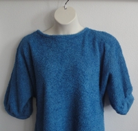 Image Jan Sweater - Medium Blue Chenille Fleece Sweater Knit