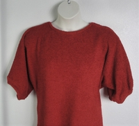 Image Jan Sweater - Rust Chenille Fleece Sweater Knit