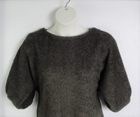 Image Jan Sweater - Brown Chenille Fleece Sweater Knit