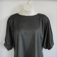 Image Libby Shirt - Olive Green Brushed Polyester Knit