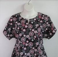 Image Gracie Shirt - Black/Red Floral