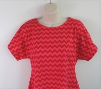 Image Tracie Shirt - Red on Red Chevron Cotton Knit (Size XXS only)