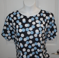Image Tracie Shirt - Blue/White/Black Dot Cotton Knit