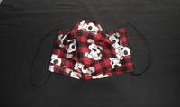 Image Red Plaid Dog Face Mask
