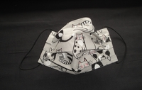 Image Gray Cats Face Mask