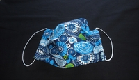 Image Blue/Lime Floral Face Mask