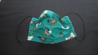 Image Teal Green Chickens Face Mask