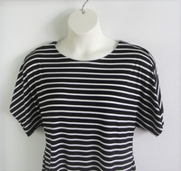 Image Tracie Shirt - Black Stripe Rayon Knit