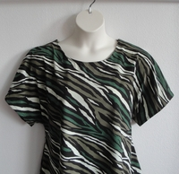 Image Tracie Shirt - Zebra Camo Cotton Knit (XS & S only)