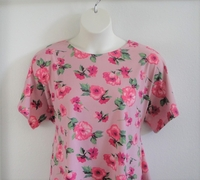 Image Tracie Shirt - Pink Floral Brushed Poly Knit