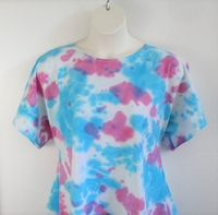 Image Tracie Shirt - Turquoise/Pink Tie Dye Cotton Knit (M - XL Only)