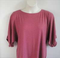Image Libby Shirt - Mauve Dot Brushed Poly Knit