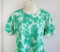 Image Tracie Shirt - Green Tie Dye Cotton Knit