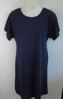 Image Orgetta Nightgown - Navy Blue Rayon Knit