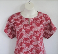 Image SECOND -- Gracie Shirt - Red Sketch Floral