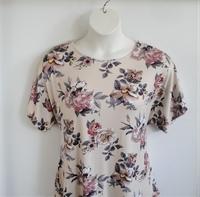 Image Tracie Shirt - Tan Floral Rayon Knit