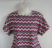 Image Tracie FLANNEL Shirt - Pink/Black Chevron