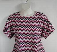 Image Tracie FLANNEL Shirt - Pink/Black Chevron